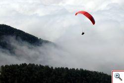 repülés Krvavec csúcsáról